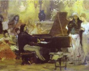 Chopin Performing in the Guest-Hall of Anton Radziville in Berlin in 1829Henryk Siemiradzki 1887