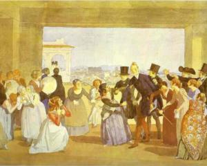 Festival in Rome in October. Scene in the Loggia (Asking to Dance) Alexander Ivanov 1842