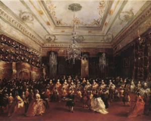 Ladies Concert at the Philharmonic Hall - Francesco Guardi, 1782