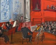 "O πίνακας του Ραούλ Ντυφύ ""Κουιντέτο με το κόκκινο βιολοντσέλο"", που αποτελεί και το εξώφυλλο της έκδοσης."