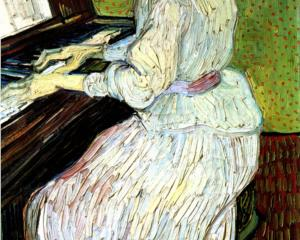 Marguerite Gachet at the Piano - Vincent van Gogh, 1890