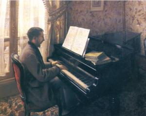 Young Man Playing the Piano - Gustave Caillebotte, 1876