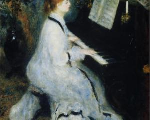 Young Woman at the Piano - Pierre-Auguste Renoir, 1876